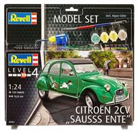 Revell 1/24 Citroen 2CV Sausss Ente Model Set 67053Length 160mm	Number of Parts 139Comes with glue and paints to assemble and complete the model.