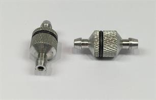 These machined, metal fuel filters are a great low cost option for users of radio controlled cars or aircraft. They can be taken apart for cleaning, and fit almost any type of fuel powered model, they're even petrol proof.