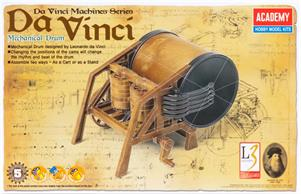 Academy Da Vinci Mechanical Drum AY18138Snap together model. Paint and glues not required