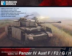 Detailed plastic model kit of the German Panzer IV which can be built as the Auf F, Ausf F2, Ausf G or Ausf H variants. Optional parts include appliqué armour (Ausf F) and spaced armour (Ausf G/H).