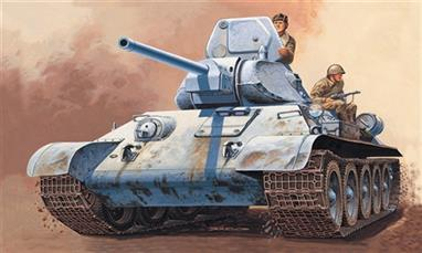 Italeri 7008  1/72 Scale T34/76m Tank - 1942Dimensions Length 82mm.The kit includes decals and full instructions and comes complete with two figures.Glue and paints are required to assemble and complete the model (not included)