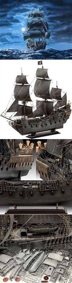 Revell 1/72 Disneys Pirates of the Carribean Black PearlLength 500mmHeight 470mmNumber of Parts 895Glue and paints are required