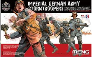 Pack of Four plastic figures of World War 1 Imperial German Army Storm Troopers
