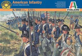 Italeri 1/72 US Infantry American Independence Wars 606048 figures in 16 different poses per box