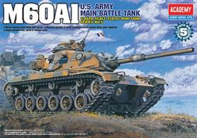 Academy 13009 a 1/48th scale plastic kit of the US Armies M60 Tank