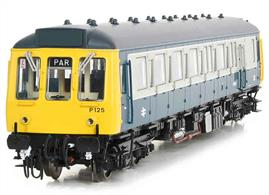 Expected April 2020This car is painted in the British Rail blue and grey livery applied to units as they were put through the refurbishment programme. Era 7 1971-1982Features:- Switchable directional lighting. Interior lighting. Provision for DCC and sound system installation. 21 pin decoder fitting