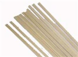 Amati Bass Lime Strip 10mm x 10mm. 1 metre length. Pack of 2.(Approx 3/8in. square)