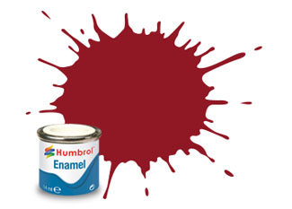Humbrol  20 Gloss Crimson Enamel Paint 14ml E14/20