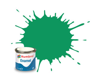 Humbrol  50 Metallic Green Mist Enamel Paint 14ml E14/50