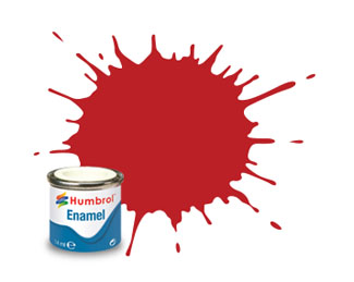 60 Matt Scarlet Enamel Paint 14ml