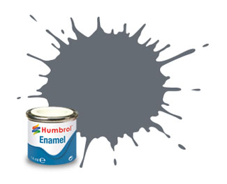 123 Satin Extra Dark Sea Grey Enamel Paint 14ml