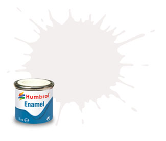 130 Satin White Enamel Paint 14ml