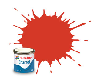 174 Matt Signal Red Enamel Paint 14ml