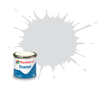 196  Satin Light Grey Enamel Paint 14ml