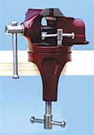 Superior ' pearl finish ' swivel vice with bench clamp