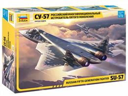 Zvezda 7319 1/72nd Russian Fifth-Generation Fighter Su-57 kitNumber of Parts 122    Length 295mm