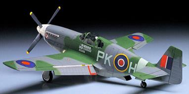 "Tamiya 1/48 North American Mustang 111 WW2 RAF Fighter Kit 61047It's not widely known, but P-51's also served extensively with the British Royal Air Force during WWII. The Mustang III was the RAF equivalent of the P-51B with a Rolls-Royce Merlin engine and the ""razorback"" fuselage. Tamiya's rendition of the RAF Mustang builds up into an impressive, highly detailed 1/48th scale replica with accurate interior and exterior detail. High quality water slide decals are included for three aircraft.Glue and paints are required"