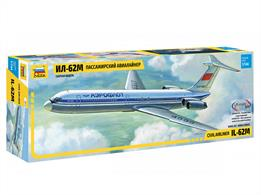 Zvezda 7013 1/144th Ilyushin IL-62M Airliner KitNumber of Parts 139  Length 369mm