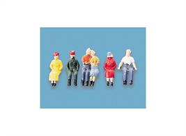 Fully painted figures to add to your station seats, or rail or road vehicles.