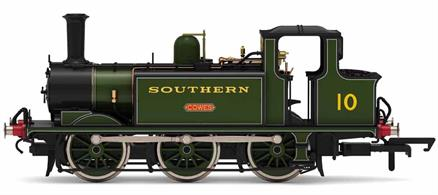 Expected January 2020Hornby new highly detailed model of the LBSCR A1X class Terrier locomotives finished as W10 Cowes in Southern Railway lined green livery. This was one of the Terrier engines sent to the Isle of Wight and equipped with an extended bunker to increase the coal carrying capacity.