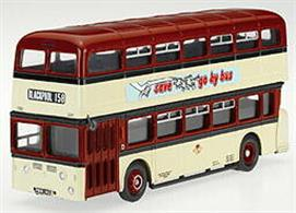 Corgi 1/50 Leyland Atlantean Scout Motor Services Preston CC25601In response to demand by bus enthusiasts for one of the most popular areas on their map, the Preston-based bus company is represented by a 1960s Atlantean in this 1/50 scale Limited Edition presented in bespoke display packaging. Features include detailed driver's cab, full passenger seating, accurate livery and badging, and authentic destination boards from the period.