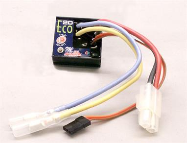 The MicroViper Marine10 is a miniature Brushed Speed Control designed specifically for use in RC model boats. The Marine10 has 10Amp motor limit and has proportional forwards and reverse functions.
