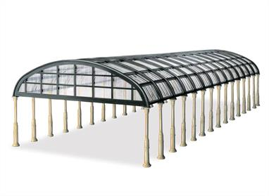 The manyways overall roof kit can be assembled in several different configurations. The sections supplied will construct a span of 184mm (7½in) with a length up to 431mm (17in).