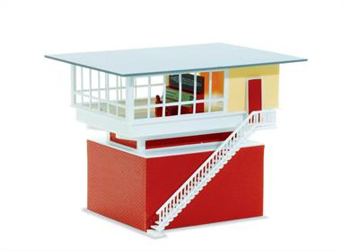 Despite its modern appearance, the prototype for this superb Signal Box kit was built back in the 50''s, and is of a type which still exists today. Assembly is simple and the correctly coloured components make up into a highly realistic model without the need for any painting. 79 x 85mm