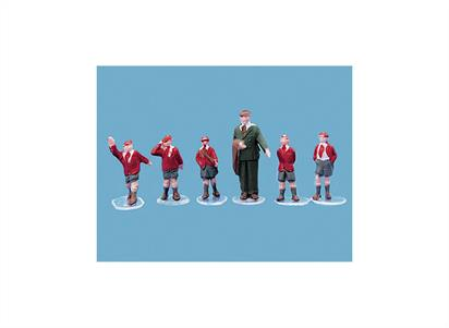 Pack contains 5 fully painted schoolboys plus Master figures.