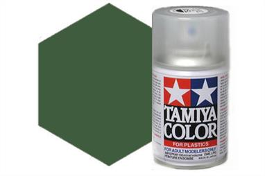 Tamiya TS61 Synthetic Lacquer Spray Paint Nato Green 100ml TS-61These cans of spray paint are extremely useful for painting large surfaces, the paint is a synthetic lacquer that cures in a short period of time. Each can contains 100ml of paint, which is enough to fully cover 2 or 3, 1/24 scale sized car bodies.