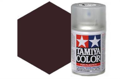 Tamiya TS63 Synthetic Lacquer Spray Paint Nato Black 100ml TS-63These cans of spray paint are extremely useful for painting large surfaces, the paint is a synthetic lacquer that cures in a short period of time. Each can contains 100ml of paint, which is enough to fully cover 2 or 3, 1/24 scale sized car bodies.