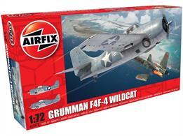 Airfix A02070 1/72nd Grunmann F4F-4 Wildcat Fighter KitNumber of Parts 58  Length 122mm   Wingspan 160mm