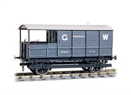 Plastic kit to build a detailed model of the GWR 16-ton goods brake van.The Peco kits feature a simple compensation system for reliable running. Couplings, sprung buffers, metal wheels and wire for handrails are all included.These vans date from the late 1890 and 1900s and are shorter than the later standard 20 ton vans which appeared during the Churchward era. These lighter goods brake vans were rapidly displaced from mainline duties but many were still in service on branchlines well into the nationalisation period.