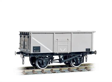 Built in their hundreds of thousands and seen all over the rail system, these are the wagons which replaced pre war wooden private owner wagons. With side and end doors. Easy to assemble from the correctly coloured injection moulded components. Kits include Transfers. Buffers are sprung and 3-link couplings are included on all models, while the BR wagons also feature working axlebox springs and moveable brake levers. Fine scale metal tyred wheels on pin-point axles supplied, spoked for the GWR wagons or 3-hole disc for the BR types. Fully illustrated instructions included.This model kit is based on an early 16-ton steel mineral wagon with pressed steel end door, welded side doors and no top flap over the side door. This corresponds generally to BR diagram 1/102, a design built for the Ministry of Transport to replace old wooden wagons lost, damaged or simply life expired during WW2.