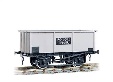 Literally just a steel box on wheels, these wagons were designed to be emptied by turning them upside down in a 'tippler' mechanism, hence there are no side or end doors. Easy to assemble from the correctly coloured injection moulded components. Kits include Transfers. Buffers are sprung and 3-link couplings are included on all models, while the BR wagons also feature working axlebox springs and moveable brake levers. Fine scale metal tyred wheels on pin-point axles supplied, 3-hole disc for the BR types. Fully illustrated instructions included.British Railways constructed over 8,500 tippler wagons, nominally for iron ore. These wagons had no side or bottom doors and were emptied by being rolled over or later by mechanical grab buckets. The wagons were used for a range of basic mineral ores and for aggregates including roadstone.