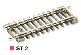 Short straight track section. Length 58mm (2 5/16in)Slightly shorter that the standard straight, useful to fill in gaps, maximise the length of sidings etc.Peco track is manufactured in Great Britain using quality nickel-silver rail which offers good electrical conductivity and corrosion resistance. Setrack track is supplied with fishplates already fitted and is compatible with the track supplied with Graham Farish train sets. Suitable for use with all manufactuers' N gauge model trains.
