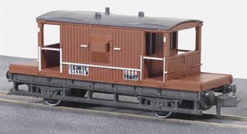 BR goods train brake van painted in bauxite brown livery.The LNER introduced this design of goods train guard brake van in the late 1930s, the longer chassis wheelbase giving a much smoother ride than the previous shorter designs. The cabin length remained the same, being perfectly adequate for its' single passenger and for stowing the equipment required to be carried with the train. This design was adopted for the standard British Railways goods train brake vans built in the 1950s. Railway companies all had a stock of their own vehicles for carrying goods and merchandise around their network, and also onto other companies' routes as and when required. These were integrated into British Railways at Nationalisation; some of them to be once more re liveried under sectorisation as the network was prepared to be returned to private ownership. All Peco wagons feature free running wheels in pin point axles. The ELC coupling, whilst compatible with the standard N gauge couplings, keeps a realistic distance between the vehicles and enables the PL-25 electro magnetic decoupler to be used for remote uncoupling.