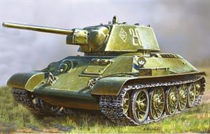 Zvezda 1/72 Soviet Medium Tank T34/76 Snap Fit Kit 5001Paints are required