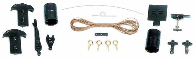 Ratio's signal control kit contains a lever, operating twine, screw-in eyelets and signal operating mechanism to allow remote operation of Ratio signals.