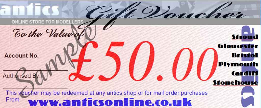 Antics  £50.00 Gift Voucher GV4