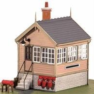 Detailed model kit to build a small platform or ground mounted signal box.Small signal boxes like this one were built at many minor branchline stations where traffic did not require a larger 'box to manage the basic arrangements of passing loop and siding. This size would also be suitable a level crossing box with signals operated by the crossing keeper to warn approaching trains.Size 65x50mm