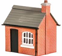 Often, the yard foreman would have an office near the yard gate, for completing paperwork and answering the telephone (don't forget the telegraph poles [Ref 452]!). Supplied with pre-coloured parts although painting and/or weathering can add realism. glue is required to complete this model.<br />Footprint: 46mm x 30mm.