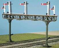 free post gantry parts only HO//OO gauge Pratt Truss Gantry - Ratio 478