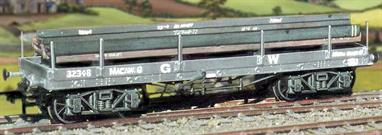 These wagons were used for carrying rail, girders, sawn timber, trees, telegraph poles, pipes etc, a steel beam load is included.This kit has been produced under the Ratio banner for many years and has now been merged into the Parkside range.