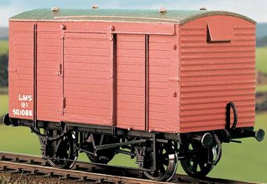 The LMS built over 20,000 of these workmanlike ventilated vans with sliding doors from 1934, with the last batches being completed under British Railways orders in 1950. Many lasted until the end of the 'traditional' wagonload operations in the 1970s. This kit has been produced under the Ratio banner for many years and has now been merged into the Parkside wagon kits range.