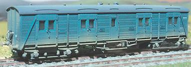 The 'bogie B' was the Southern Railway's general purpose non-corridor bogie luggage or utility vans were first built in 1937 and continued in use until around 1986 on newspaper and mail trains. Originally produced under the Ratio banner and now merged into the Parkside range this is a more advanced kit than the Ratio wagons incorporating etched brass detailing parts. Transfers are included.
