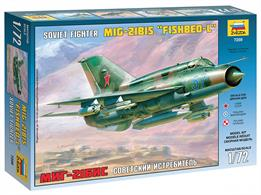 Zvezda 7259 1/72nd Mig 21 Bis Soviet Fighter Jet Plastic KitNumber of Parts 90   Length 200mm