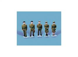 Pack contains 5 fully painted Army Personnel figures.
