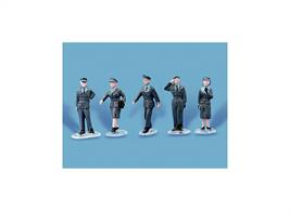 Pack contains 5 fully painted RAF Personnel figures.