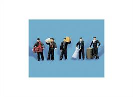 Pack contains 5 fully painted figures to look busy around your station.